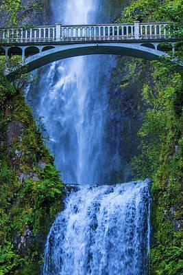 Poster featuring the photograph Multnomah Falls Bridge by Jonny D