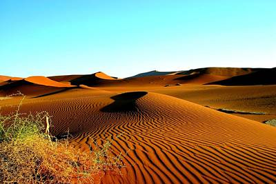 Poster featuring the photograph Namibia Dunes by Riana Van Staden