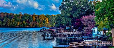 Nature Landscapes Around Lake Wylie South Carolina Poster by Alex Grichenko