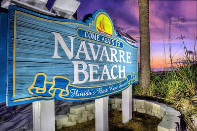 Navarre Beach Poster by JC Findley
