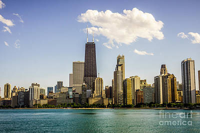 Near North Side Chicago Skyline Poster by Paul Velgos