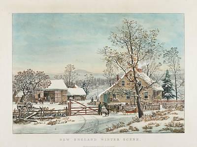 New England Winter Scene Poster