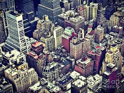 New York By Raphael Terra Poster by Raphael Terra
