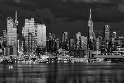 Poster featuring the photograph New York City Skyline Pride Bw by Susan Candelario