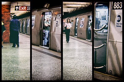 Poster featuring the photograph New York City Subway Stare by Lars Lentz