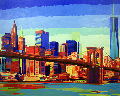 New York In Color Poster by Tracy Dupuis Roland