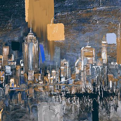 New York Skyline 198 3 Poster by Mawra Tahreem