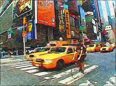 New York Yellow Cabs Poster