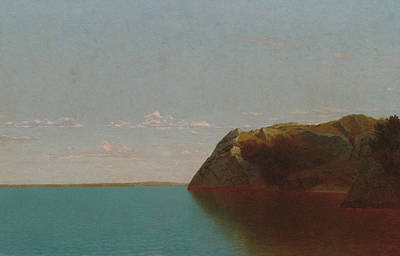 Newport Rocks Poster by John Frederick Kensett