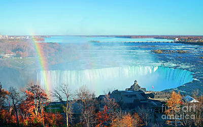Poster featuring the photograph Niagara Falls Rainbow by Charline Xia