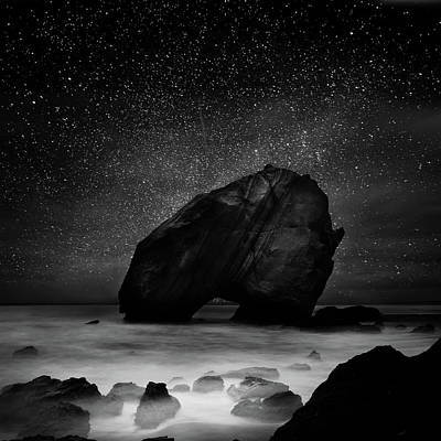 Poster featuring the photograph Night Guardian by Jorge Maia