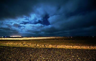 Poster featuring the photograph Icelandic Night  by Dubi Roman