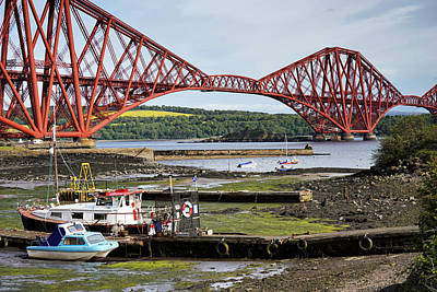 Poster featuring the photograph North Queensferry by Jeremy Lavender Photography