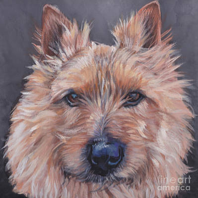 Poster featuring the painting Norwich Terrier by Lee Ann Shepard