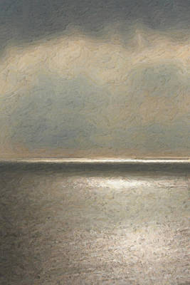 Not Quite Rothko - Twilight Silver Poster