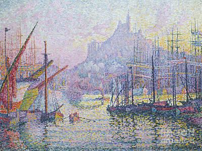 Notre Dame De La Garde, La Bonne Mere, Marseilles Poster by Paul Signac