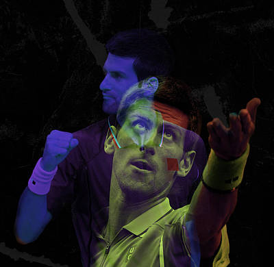 Novak Djokovic Double Color Exposition Poster by Srdjan Petrovic
