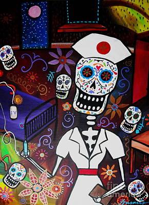 Nurse Dia De Los Muertos  Poster