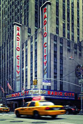 Nyc Radio City Music Hall Poster by Nina Papiorek