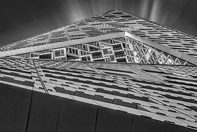 Poster featuring the photograph Nyc West 57 St Pyramid by Susan Candelario