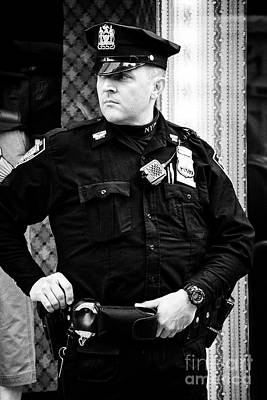 nypd protective security detail outside trump tower manhattan New York City USA Poster