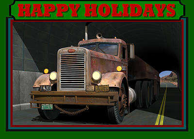 Ol' Pete Happy Holidays Poster by Stuart Swartz