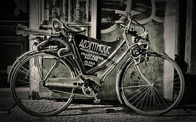 Old Bike Poster by Hans Wolfgang Muller Leg