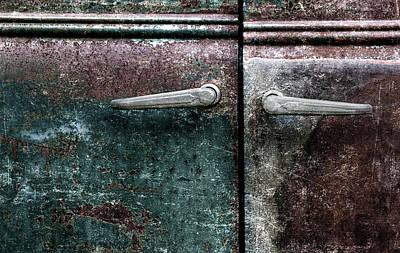 Old Car Weathered Paint Poster by Carol Leigh