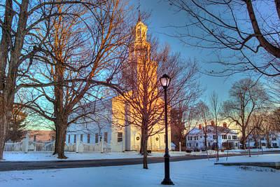 Old First Church - Bennington Vermont Poster by Joann Vitali