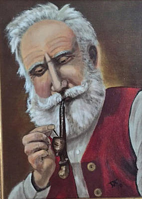Old German With Pipe Poster