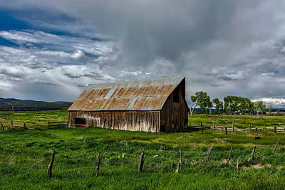 Old Weathered Barn Poster by Mountain Dreams