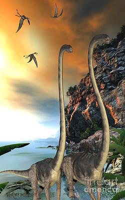 Omeisaurus Dinosaurs Poster
