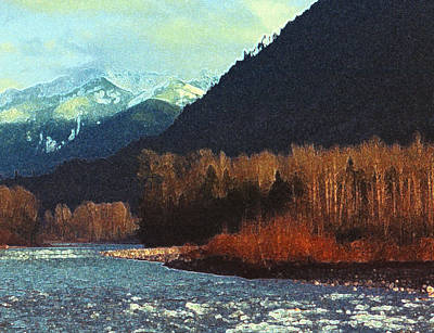 Poster featuring the photograph On The Squamish River 2223 by Lyle Crump