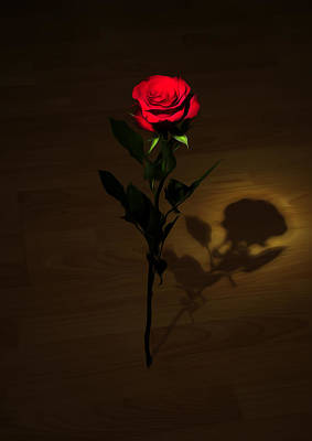One Red Rose Poster by Svetlana Sewell