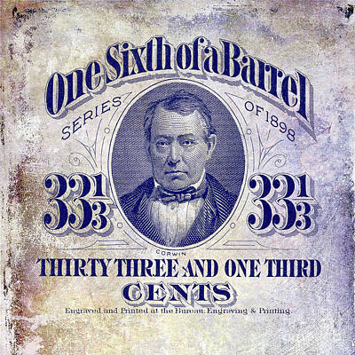 One Sixth Beer Barrel Tax Stamp Poster
