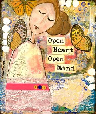 Open Heart Open Mind Poster by Kathy Donner Parara