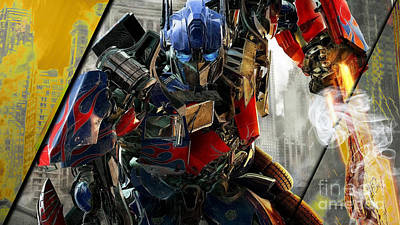 Optimus Prime Transformers Collection Poster