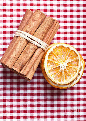 Orange And Cinnamon Poster by Nailia Schwarz