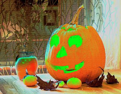 Orange Halloween Decoration Poster