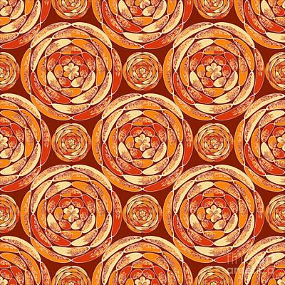 Orange Pattern Poster by Gaspar Avila
