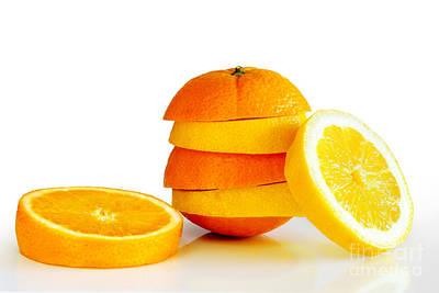 Oranje Lemon Poster by Carlos Caetano