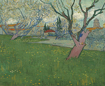 Orchards In Blossom View Of Arles Poster by Vincent van Gogh