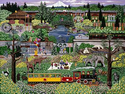 Oregon Zoo Poster by Jennifer Lake