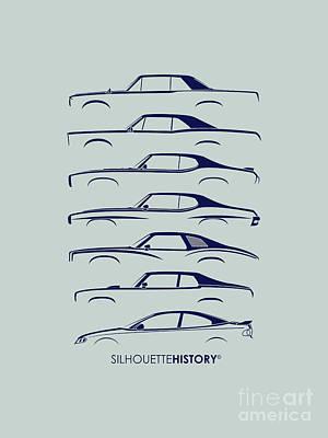 Original Muscle Silhouettehistory Poster by Gabor Vida