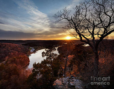 Poster featuring the photograph Ozark Sunset by Dennis Hedberg