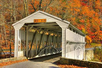Pa Country Roads - Knox Covered Bridge Over Valley Creek No. 2a - Valley Forge Park Chester County Poster