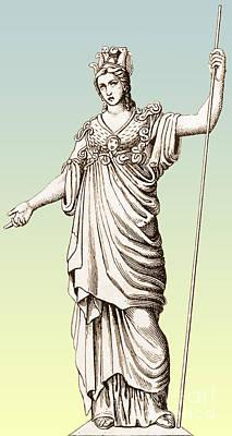 Pallas, Greek Goddess Poster by Photo Researchers