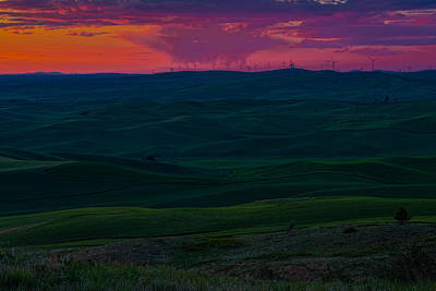 Palouse Sunset 3 Poster by Thomas Hall