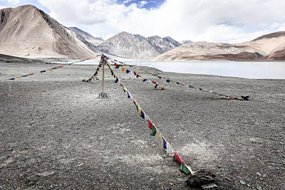 Poster featuring the photograph Pangong Tso Lkae by Alexey Stiop