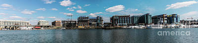 Panorama Of Washington Channel Waterfront March 2017 Poster by Thomas Marchessault